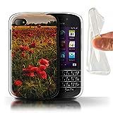 Stuff4 Gel TPU Hülle / Case für Blackberry Q10 / Mohnfeld