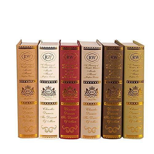 Colore Casuale Bar RecoverLOVE Simulazione Prop Libro in Legno Antico Libro Scatola di Studio Puntelli Libro Decorazione Ornamenti nostalgici per Sala Studio Fotografia Puntelli
