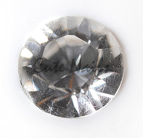 env. 100 Strass Crystall cristal transparent rond - Cute Nails