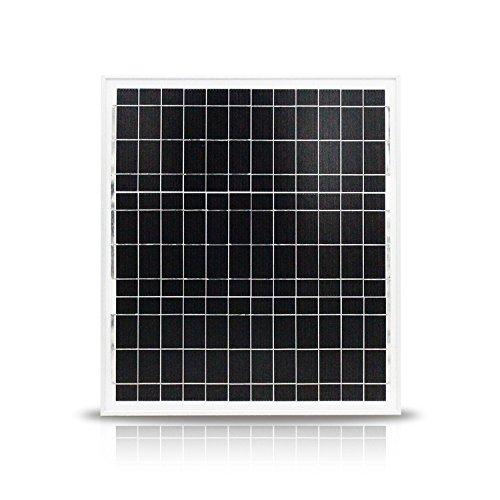 nuzamas 20W 12V Solar Panel Aluminium Rahmen Akku Ladegerät Home Off Grid Caravan Boot, Auto Wohnmobil Camping Angeln Jagd Portable Power