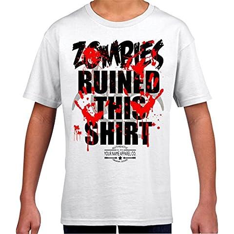 Kids Ali Zombies questa Ruined-Maglietta da ragazzo, colore: menta