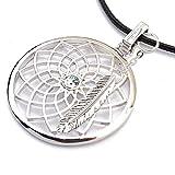 Gepardini Traumfänger Halskette mit SWAROVSKI® Kristalle, (mit Feder in Silber Rhodiniert)