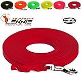 LENNIE Extra leichte Schleppleine aus 16 mm Super Flex BioThane / 1-30 Meter [10 m] / 6 Farben [Rot] / geflochten/mit Handschlaufe