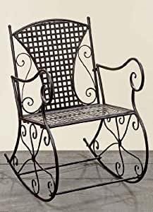 boltze konya chaise m tallique bascule id ale pour l 39 ext rieur marron largeur 57 cm. Black Bedroom Furniture Sets. Home Design Ideas