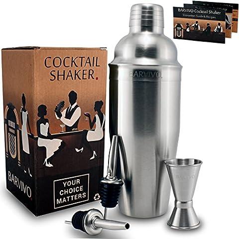Professional Ensemble de Shaker W/A Double Mesureur et 2liqueur verseurs