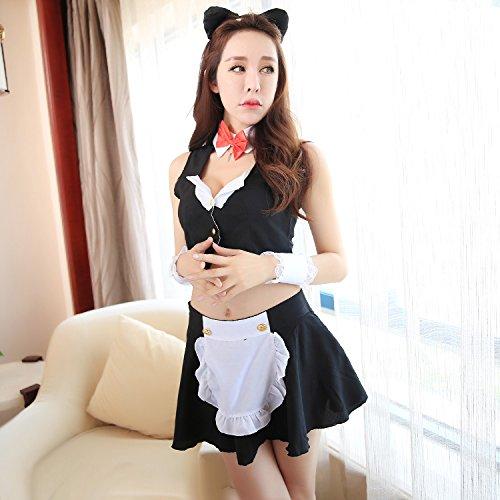 Kostüme Adult Nacht Krankenschwester (Roleeplay sexy Dessous, sexy, Nacht Maid, Weste, Leidenschaft, Minirock, Rollenspiele, Maid Uniform,)