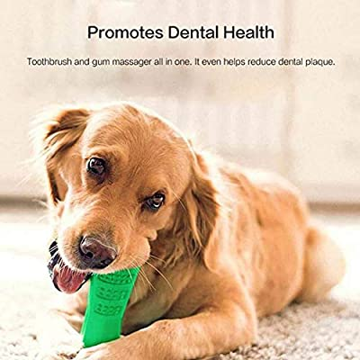 KOBWA Dog Chew Cleaning Toothbrush,Bite Toys for Dogs,Non-Toxic Silicone Doggy Brush Stick Chewing Toy Pets Oral Care,Dental Hygiene Brushes for Small to Medium Dogs,Cats,Gift for Pets Lover