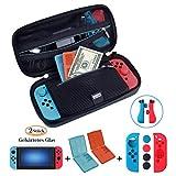 ANGPO ®【Kit Custodia per Nintendo Switch】 Custodia per Nintendo Switch e borsa per giochi e accessori /Proteggi schermo /Set protettivo per Joy-con/ Custodia per Game Card, Set 4in1