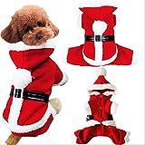 Veste pour Chien Très Chaud Noël Chien Vêtements Veste Chien Chiot Animaux de Compagnie Hiver Veste Manteau d'hiver Hiver Automne en Peluche XS/S/M/L/XL Rouge