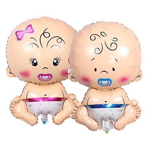 (SM SunniMix Süß Folienballon Luftballon Heliumballon Deko Ballon mit Schnuller Baby Form)