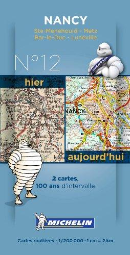 Pack 2 cartes hier/aujourd'hui Nancy Michelin par Collectif MICHELIN