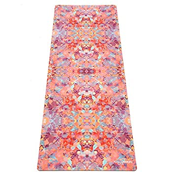 The Combo Yoga Mat. Luxurious, Non-slip, Mat/Towel Designed to Grip Better w/Sweat! Machine Washable, Eco-Friendly. Ideal for Hot Yoga, Bikram, Ashtanga, or Sweaty Practice. (Kaleidoscope)