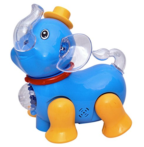 Toyshine Musical Elephant Toy with Bump and Go Action and 3D Lights