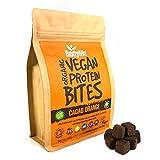 BodyMe Morsi Spuntini Proteici Vegane Biologiche | Crudo Cacao Arancia | 500g | 100 Morsi | Con 3 Proteines Vegetali