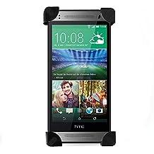 Soporte de teléfono con montura para bicicleta para HTC One Mini 2 (M8 Mini 2) de NEVEQ. Giro libre y soporte de 4 esquinas para tu teléfono móvil.