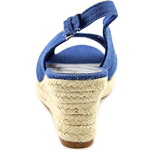 Karen Scott Dotti Femmes Toile Sandales Compensés Denim