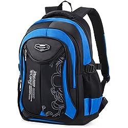 COOFIT Mochila escolar para niños, Satchels para niños adolescentes Bolsas para escuela de quinto grado Mochilas de viaje para mochila informal (azul02)