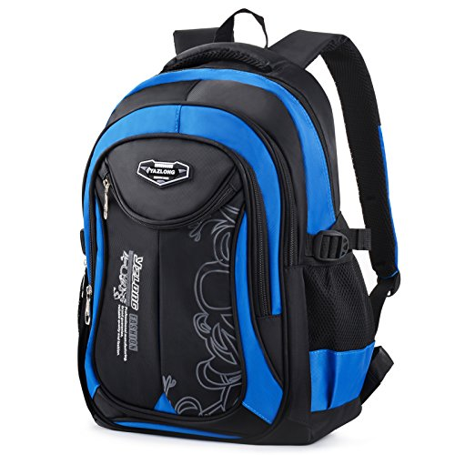 Schulranzen Jungen, COOFIT Schulrucksack Jungen Teenager Schultaschen Rucksack Backpack Rucksäcke Teenager School Bag (Blau 02)