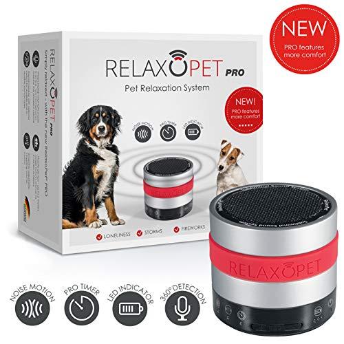 RelaxoPet PRO Tierentspannungs-Trainer | Version für Hunde | Beruhigung durch Klangwellen | Ideal bei Gewitter, Alleinsein oder auf Reisen | Hörbar und unhörbar
