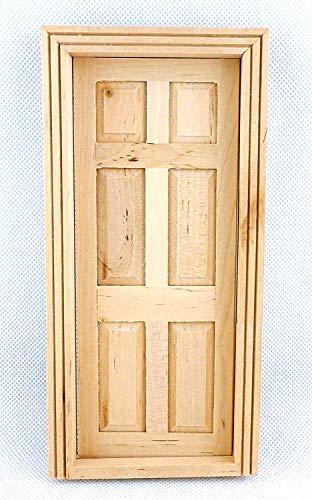 Melody Jane Puppenhaus Handwerker 1:12 Maßstab Miniatur Holz 6 Panel Innentür -
