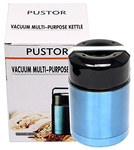 800 ML / 27 UNZE Isolierte Edelstahl Lebensmittel Glas Vakuum Lebensmittelflasche Breite Mund Mittagessen Container BPA FREI für Reise, Camping und Wandern (Halten Sie Nahrung Heiß-container)