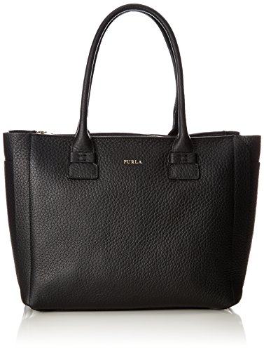 furla capriccio Furla Damen Capriccio M Tote Business Tasche, Schwarz (Onyx), 14x27x30 cm