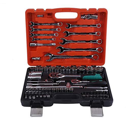 PETUNIA 82 stücke Schlüssel Schraubenschlüssel Auto Repair Tool Ratsche Drehmomentschlüssel Combo Handwerkzeug Set