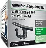 Rameder Komplettsatz, Anhängerkupplung starr + 13pol Elektrik für Mercedes-Benz C-KLASSE T-Model (113619-04754-2)