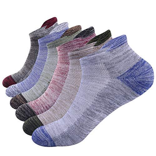 Herren athletischen socken, wandern der socken , turnschuhsocken , die im freien kletternde Socken , atmungsaktive, feuchtigkeit transportierende baumwollsport-tiefschnitt-Socken 6 Paare (mehrfarbig) -