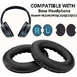 Oreillette Bose AE2/AE2W/QC25 Coussinets de Remplacement, WADEO Coussin d'oreille en Mousse 2 pièces (Noir)