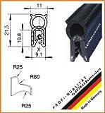 EUTRAS Dichtungsprofil KSD2004 Türgummi Kofferraumdichtung – Klemmbereich 1,0 – 3,5 mm - schwarz - 5 m