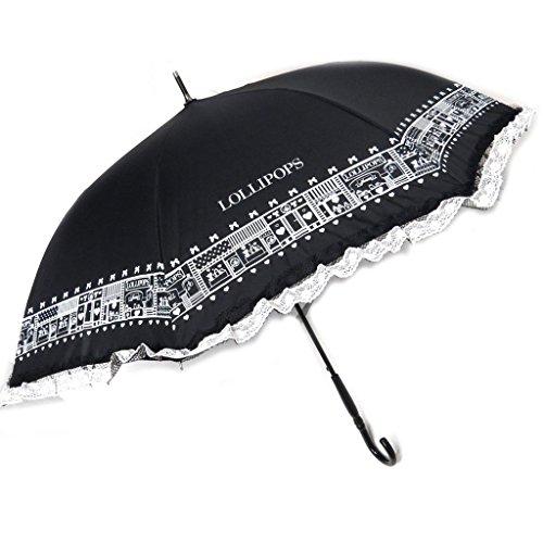 Regenschirm stock 'Lollipops' schwarz weiß - 88 cm. ()
