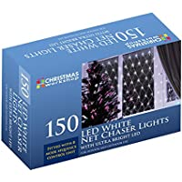 The Christmas Workshop 150 LED Net Chaser Lights, Bright White