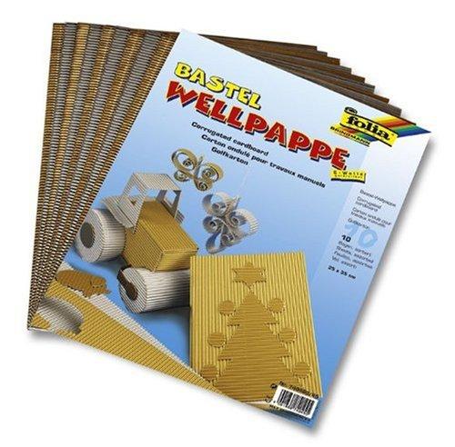 Bringmann 740460/65 - Wellpappe Folia 25x35cm gold und silber