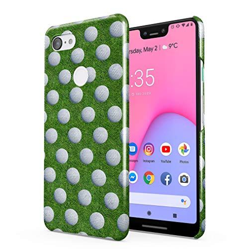 Maceste Golf Balls Pattern Kompatibel mit Google Pixel 3 XL SnapOn Hard Plastic Phone Protective Fall Handyhülle Case Cover (Scratch Golf Bälle)
