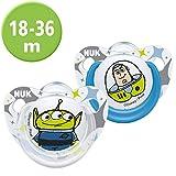 NUK Disney Pixar Toy Story Trendline Silikon-Schnuller, 18-36 Monate, 2 Stück, Buzz / Alien