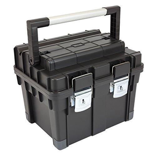 HD Compact 1 Werkzeugkoffer Box Toolbox Werkzeugkiste 450x350x350 Alugriff schwarz - 4