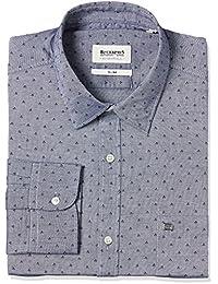 Blackberrys Men's Checkered Slim Fit Formal Shirt