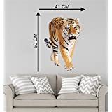Tiger Cartoon Character Decorative Pvc Vinyl Removable Decor Wall Stickers Decal Wall Sticker Home Decor Cartoon Wall Sticker Decorative Stickers Wallpaper For Kids Home Living Room Bedroom Kitchen Office By MADHUBAN DÉCOR