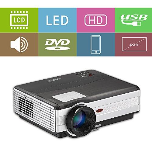 LED LCD HDMI USB Projektor Home HD