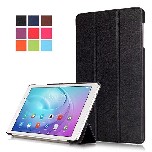 huawei tablet t2 10 pro Kepuch Huawei MediaPad T2 10.0 Pro Smart Case Custodia - Ultra-sottile e ultra-leggero di PU cuoio Folio Caso Copertura del basamento per Huawei MediaPad T2 10.0 Pro - Nero