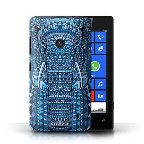 Etui / Coque pour Nokia Lumia 520 / éléphant-Couleur conception / Collection de Motif Animaux Aztec éléphant-Bleu