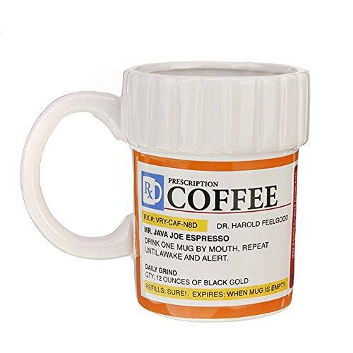 Creative Prescription Ceramic RX Drug Medicine Kaffeetasse Cups für Home Outdoor Party Geschenk von...