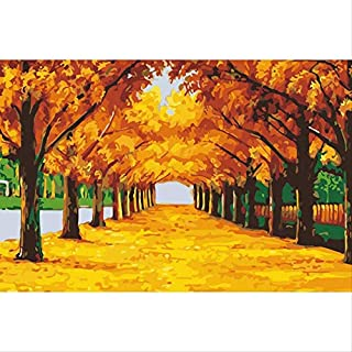 tytuoling Diy Painting By Numbers Golden Avenue Handpainted Painting On Canvas Home Decor For Living Room Gift Wall Art Picture Frameless 40X50Cm