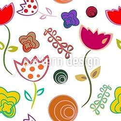 "Alu-Dibond-Bild 60 x 40 cm: ""Anny Flirtet Mit Blumen"", Bild auf Alu-Dibond (gekachelt)"