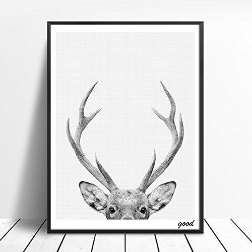 SWIDUUK-painting Deer Art Poster Wandbild Leinwand Bild für Wohnzimmer Nordic Dekoration?, 50 x 70 cm