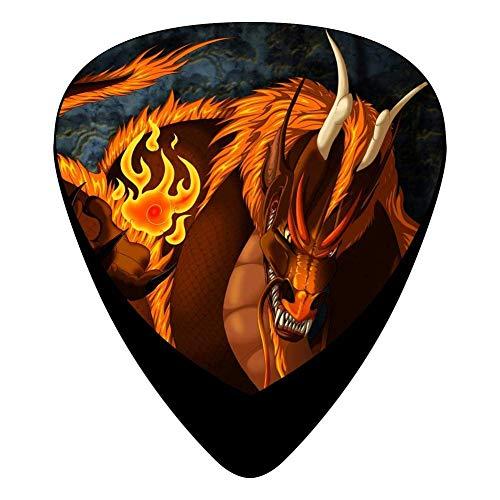Inferno Guitar Picks Celluloid Print Womens Complete Assorted 12 Pack Bass-bass-inferno