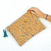 Idea de regalo: bolsa de corcho bohemia para un efecto natural y boho-chic: clutch con correa o bandolera para el hombro : regalo para ella
