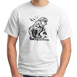 Cotton Island - T-shirt FUN0052 03 15 2012 Velociraptor Philosopher det, Talla XXL