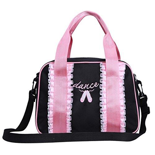 iiniim-borsa-balletto-per-ragazza-bambina-danza-handbag-borsetta-multifunzionale-nero-taglia-unica